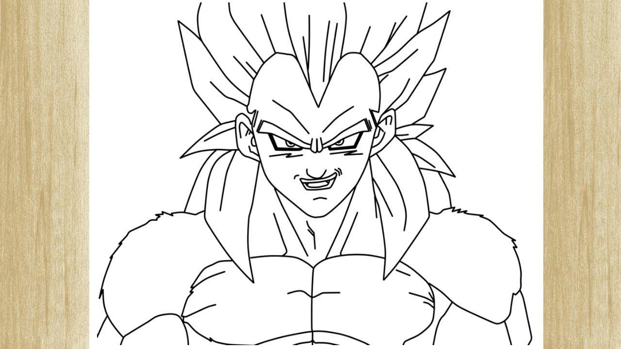 Como Desenhar O Vegeta Super Sayajin 4 De Dragon Ball Gt Youtube