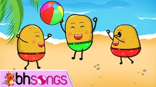 One Potato, Two Potatoes lyrics song  Lead Vocal | Nursery Rhymes TV | Ultra HD 4K Music Video