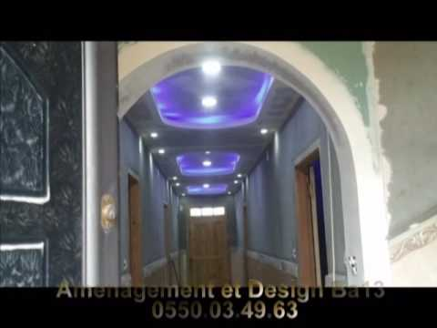 travaux decoration placoplatre ba13 (decoration avec led) - YouTube