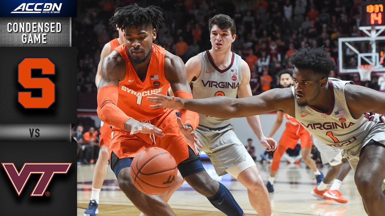 Syracuse Vs Virginia Tech Hokies Vs Condensed Game 2019 20 Acc Men S Basketball
