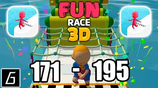 Fun Race 3D Gameplay - Levels 171 - 195 (iOS - Android)