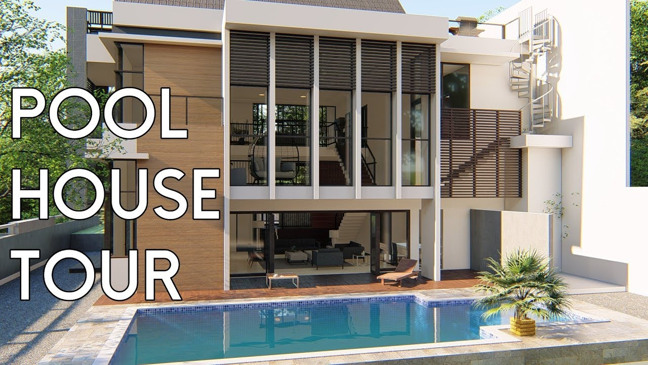 Pool House Design Tour [Desain Rumah Bapak Hady] & Pool House Design Tour [Desain Rumah Bapak Hady] - YouTube