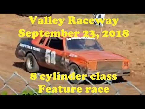 Valley Raceway 1/4 mile dirt track, 8 cylinder class, feature race. Recorded on September 23, 2018 at Valley Raceway, Melvern Square, Nova Scotia, Canada. - dirt track racing video image