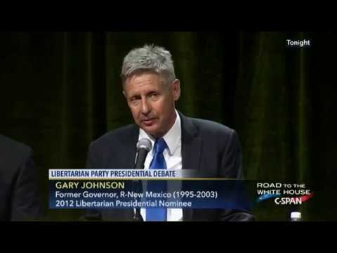 Gary Johnson booed at the Libertarian Debate for Supporting Driver