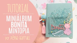 Mini álbum en un libro con Bonita de Mintopía - por Xènia