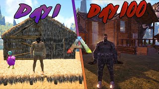 I Played 100 Dąys of Ark Survival Evolved... Here's What Happened