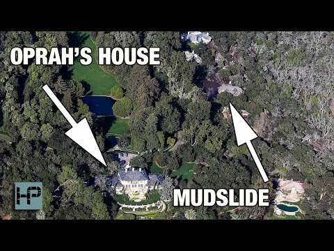 Oprah & Ellen Got SOOO LUCKY!! See How Close The Mudslides Actually Came
