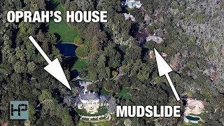 Oprah & Ellen Got SOOO LUCKY!! See How Close The Mudslides Actually Came