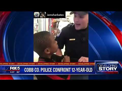 Cobb County Police confront 12 year old