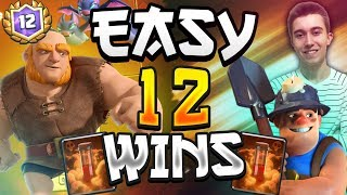 EASY 12 WIN! Off-Meta Miner Giant Deck | Dominating Grand Challenge — Clash Royale
