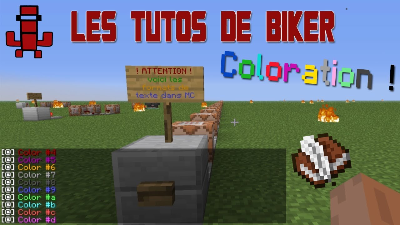 tuto colorer les textes blocs de commande panneaux livres dans minecraft smp youtube. Black Bedroom Furniture Sets. Home Design Ideas