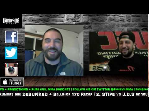"""EVil & IntoxicaTED #33 """"WEEKLY MMA NEWS Banter"""" (Jan 26th)"""