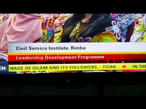 Brunei's tv news ticker