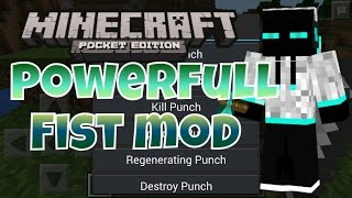 Powerfull fist mod - falcon punch! - minecraft pe (minecraft pocket edition)