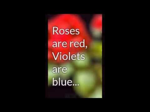 My Slideshow of funny poems on roses are red!