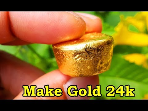 How to make gold 24k. Teach process gold refining 99.99%. tips refine gold scrap.
