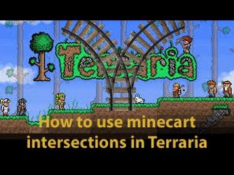 Minecart Tracks Terraria Terraria Minecart Intersection