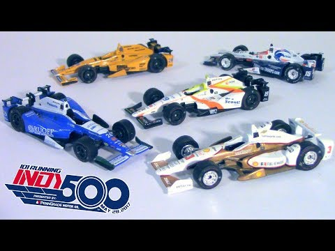 2017 Indy 500 1/64 Scale Diecast Review -- [Sato, Castroneves, Alonso, Jones, Rahal]