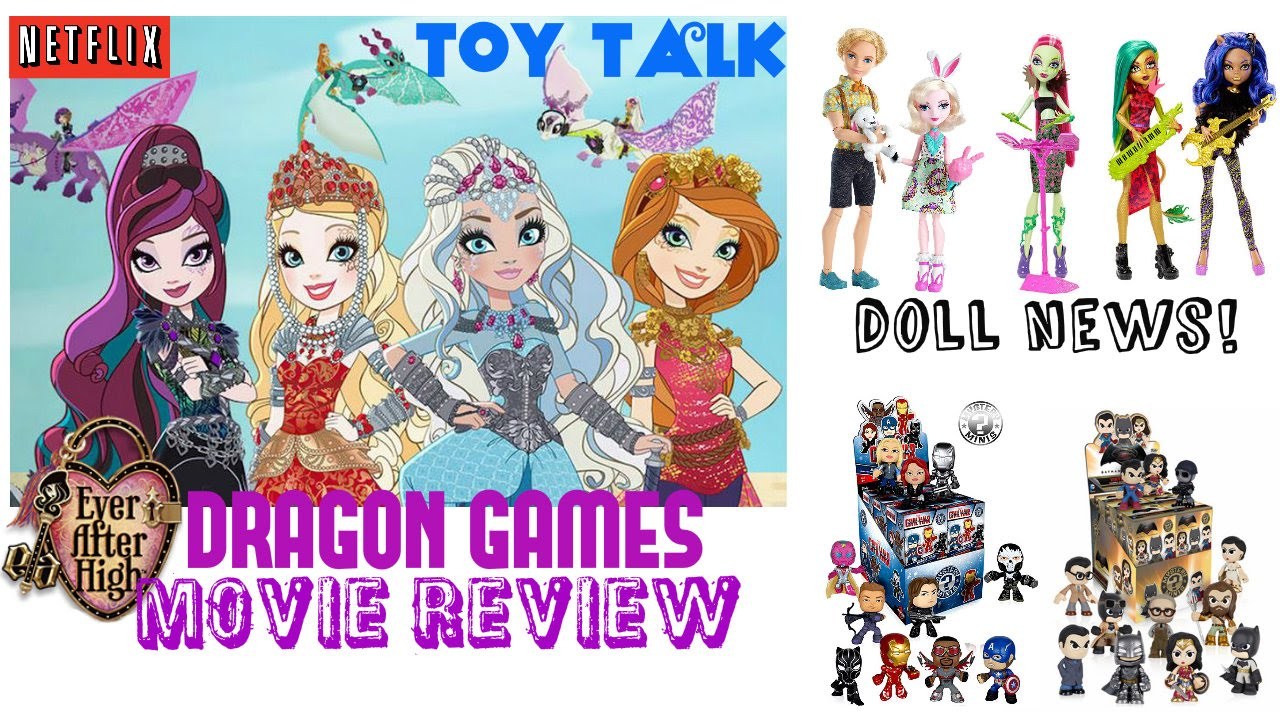 EVER AFTER HIGH DRAGON GAMES MOVIE REVIEW MONSTER HIGH FIERCE