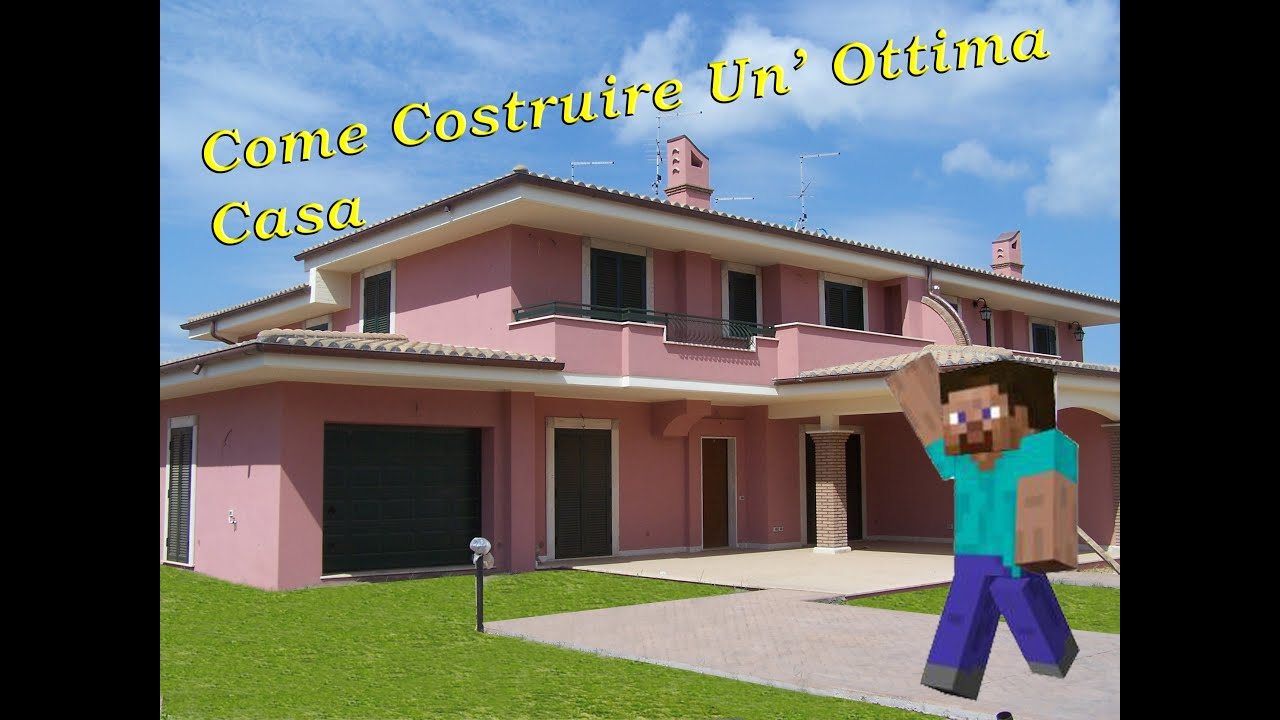Minecraft tutorial come costruire un 39 ottima casa youtube for Come costruire una casa di tronchi