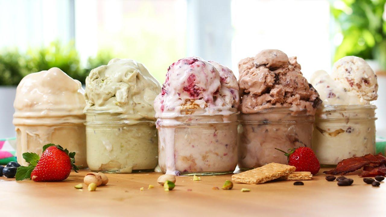 5 Easy Ice Cream Recipes Sooooo Good Youtube
