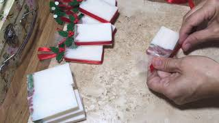 Christmas Soap Packaging with Privet