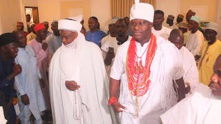 OBA ADEYEYE OGUNWUSI SHOW SULTAN OF SOKOTO THE NEW PALACE OF OONI OF IFE