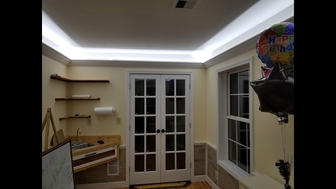 How To Design And Install Crown Molding With Indirect Led Lighting For Less Than 125