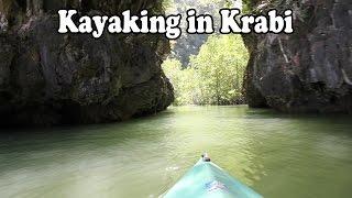 Krabi Thailand Kayak Tour. Kayaking in Krabi at Thalen Bay, about 30 minutes from Ao Nang
