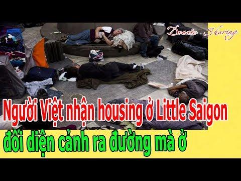 Người Việt nhận housing ở Little Saigon đối diện cảnh ra đường mà ở