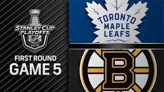 Toronto Maple Leafs vs Boston Bruins – Apr. 21, 2018 | Game 5 | Stanley Cup 2018. Обзор