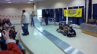 Cub Scouts Pinewood Derby Car Race Fastest Car Was 211mph Scaled 2011 03 12