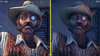 Borderlands 2 PS Vita vs PS3 Graphics Comparison