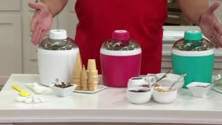 CooksEssentials 3/4qt Thermo-Electric Ice Cream Maker on QVC