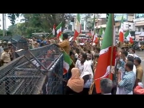 Workers Of Welfare Party Protest Against Kerala Police