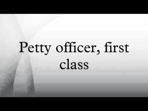Petty Officer, First Class