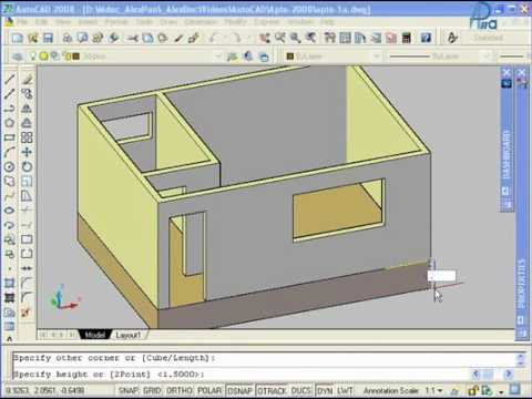 Autocad 3d tutorial part 2 12cad. Com.