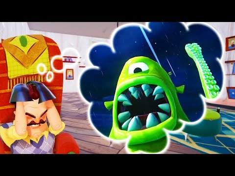 GETTING SQUISHED BY THE KRAKEN IN HELLO NEIGHBOR'S DREAM?! | Escape Your Dreams!