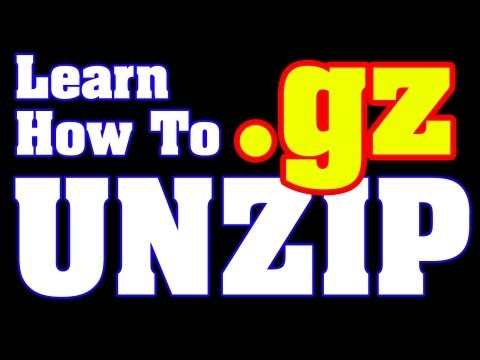 Extract GZ File - Instructions gz unzip