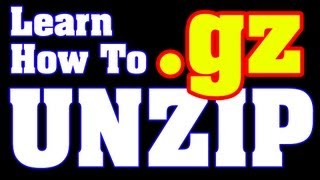 How to Open / Extract gz File - Beginner Tutorial