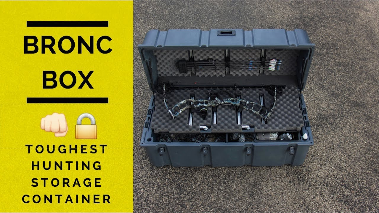 Review Bronc Box WaterDust Proof Hunting Storage Container YouTube