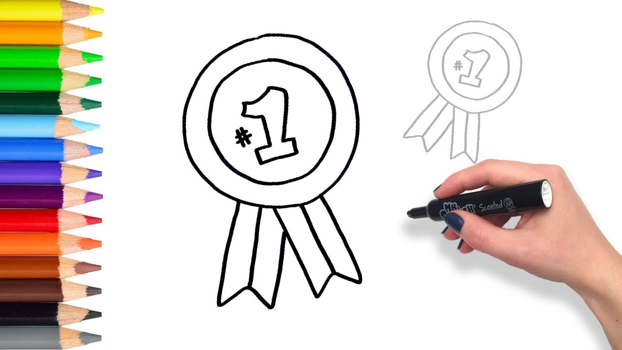 Learn To Draw A Winning Ribbon Teach Drawing For Kids
