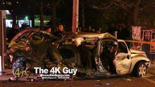 Toronto: PT Cruiser ripped open in spectacular crash 11-14-2015