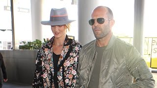 Rosie Huntington-Whiteley Smiles Off Questions About Her And Jason Statham Getting Married