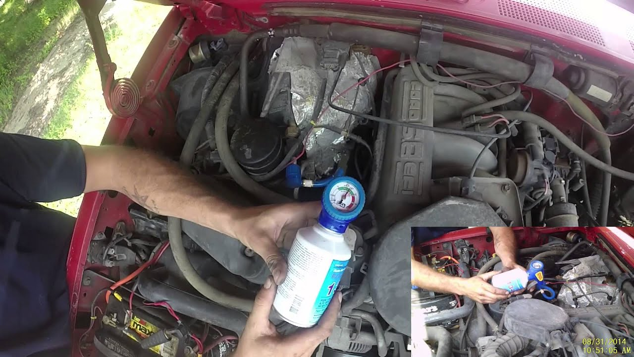 Charging the AC on a Ford F150F350 19821996  YouTube