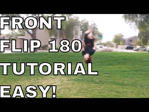 How To Do A Barani On Ground Front Flip 180 Tutorial