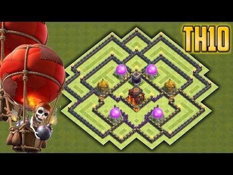 Clash of clans - Town Hall 10 (TH10) Epic Farming / Hybrid Base 2016