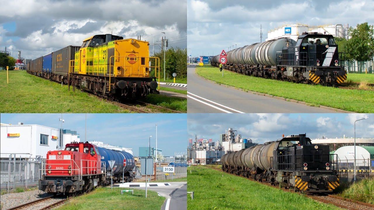 Treinen in de Rotterdamse haven!!