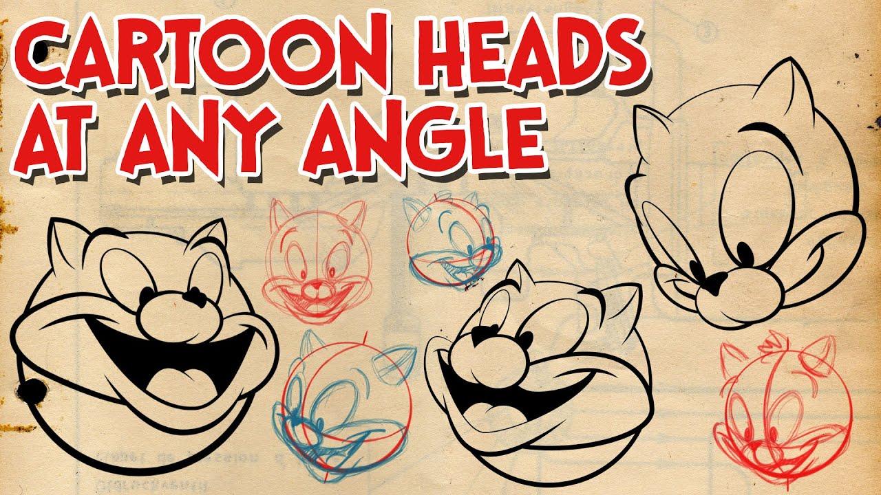 how to draw cartoon heads at any angle cartoon construction youtube