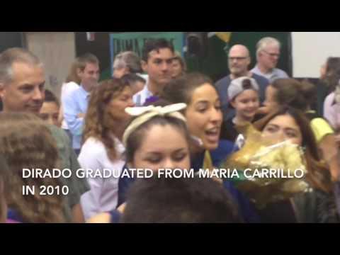 Gold medalist Maya DiRado visits her alma mater, Maria Carrillo High